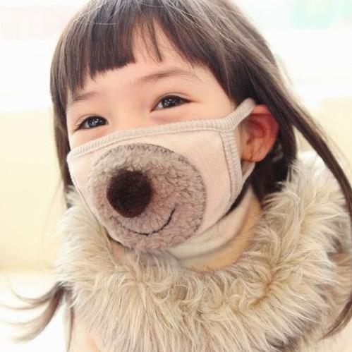 大杂混 儿童小孩子 03 防寒防尘 可爱卡通儿童口罩            韩国